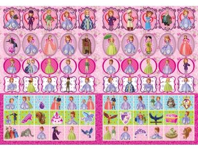 jf622 小公主苏菲亚 彩色贴贴画