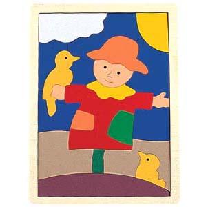 可让幼儿在拼图中学习组合图形的逻辑能力