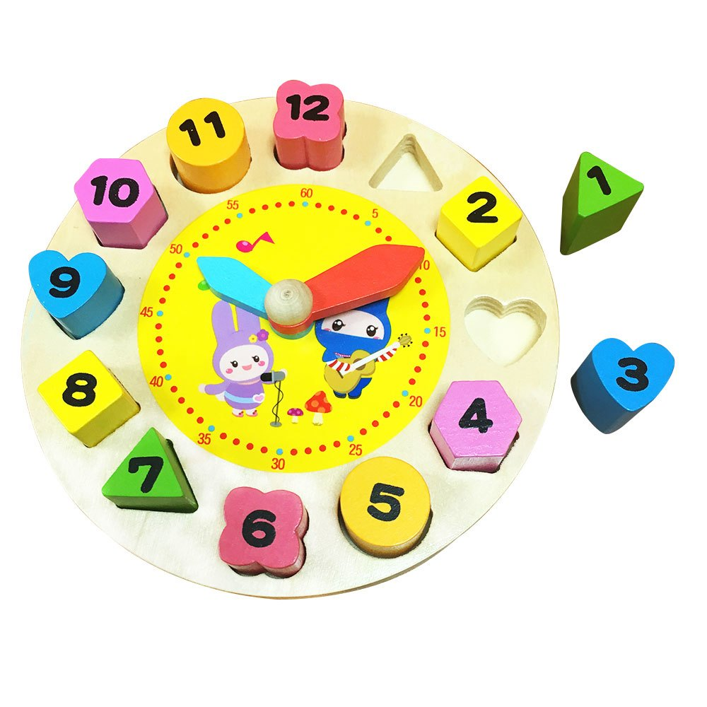 忍者兔動手動腦歡樂時鐘轉轉趣【1本重複擦寫遊戲書+1個木製時鐘】