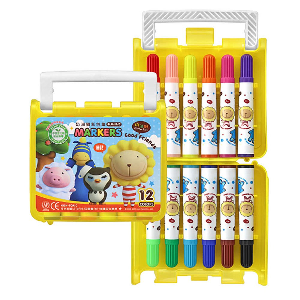 奶油獅12色彩色筆(B盒)-閃亮亮 BLM-12B