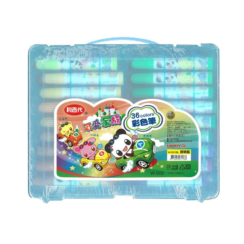 利百代可愛家族36色彩色筆 W-003 (藍盒)