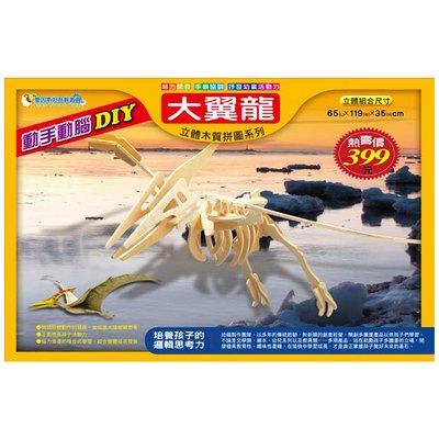 立體木質拼圖-大翼龍(4片裝)