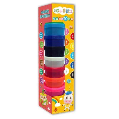 3Q小麥黏土:彩虹創意10色組