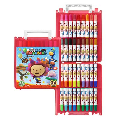 奶油獅36色彩色筆(B盒)-閃亮亮 BLM-36B