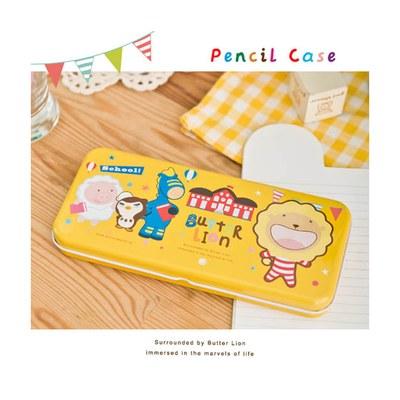 奶油獅鐵筆盒-黃 MC009