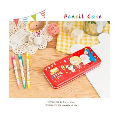 奶油獅鐵筆盒-紅 MC010