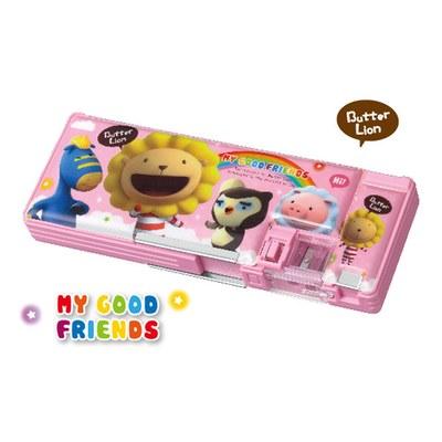 奶油獅多功能筆盒-粉紅 PB-201