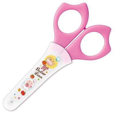 奶油獅學生剪刀(粉紅) SS-015