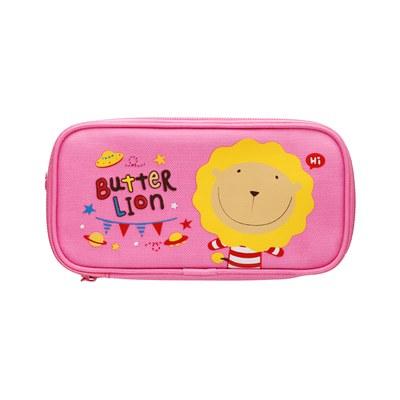 奶油獅雙層筆袋(粉) PB-306