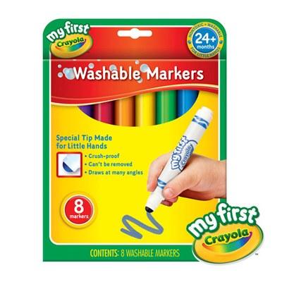 【美國crayola】繪兒樂 幼兒可水洗彩色筆8色