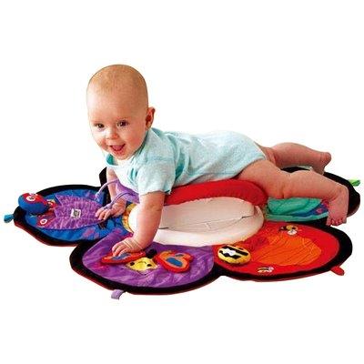 Lamaze拉梅茲嬰幼兒玩具-地墊轉轉樂(買就送安撫寶寶手帕)