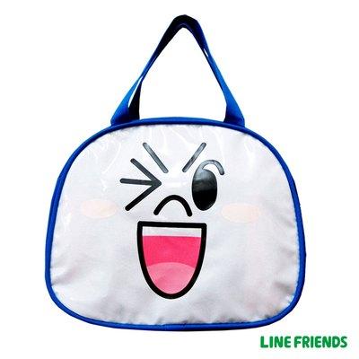 LINE FRIENDS 造型便當袋-饅頭人(藍)