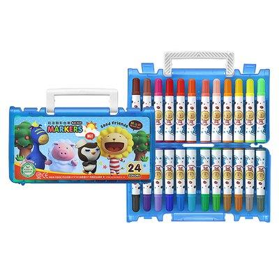 奶油獅24色彩色筆(B盒)-閃亮亮 BLM-24B