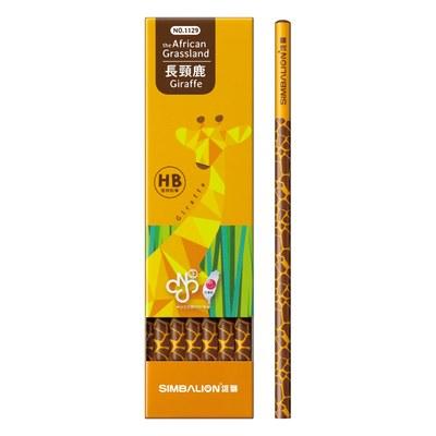 長頸鹿圓桿塗頭鉛筆(12入) 1129-HB