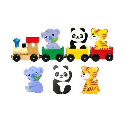 動物磁鐵火車(2)(熊貓)(新版)
